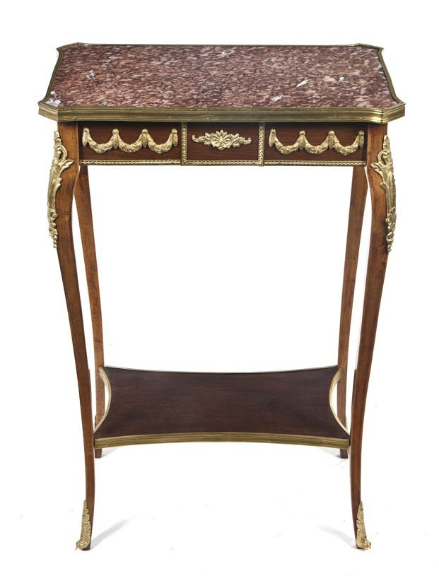 22: A Louis XV Style Gilt Bronze Mounted Occasional Tab