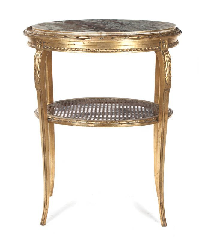 63: A Louis XV Style Giltwood Occasional Table, Height