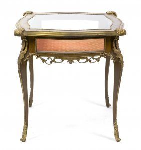A Louis XV Style Gilt Bronze Mounted Vitrine Table,