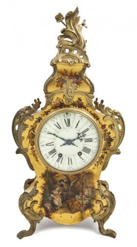 A Louis XV Style Vernis Martin And Gilt Bronze Moun