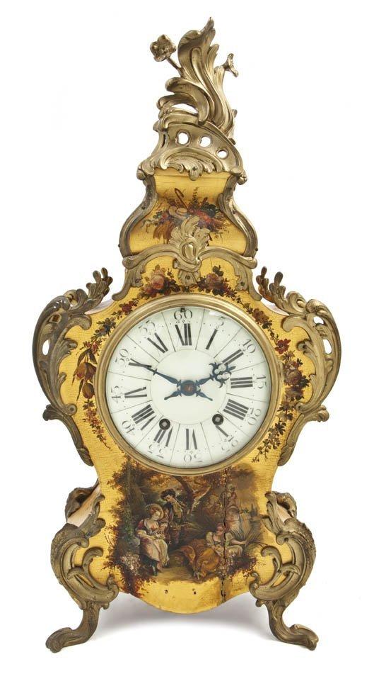 71: A Louis XV Style Vernis Martin and Gilt Bronze Moun