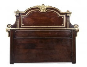 A Louis XVI Style Mahogany And Gilt Bronze Mounted