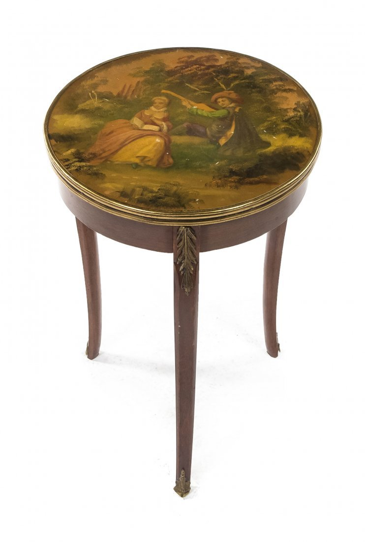 84: A Louis XVI Style Vernis Martin Mounted Occasional