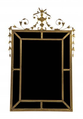 A Giltwood Pier Mirror, Height 65 X Width 42 1/2 I