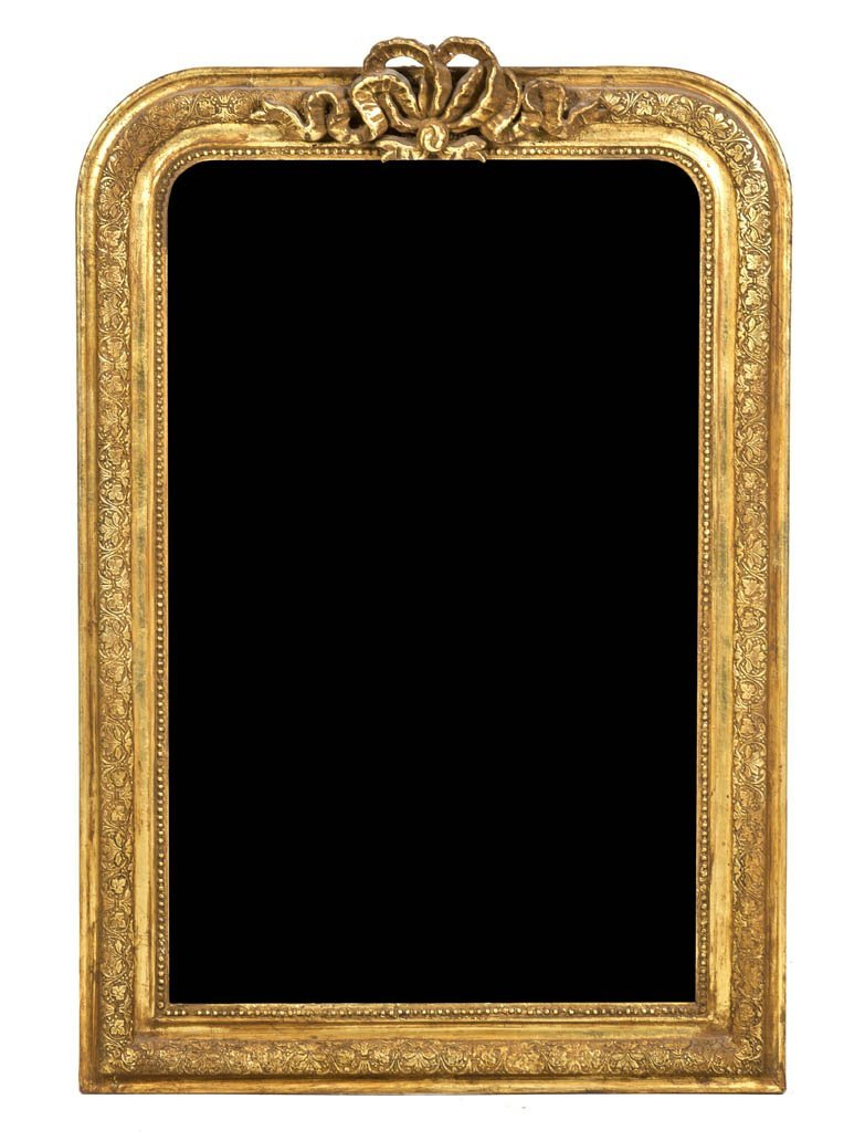 139: A French Giltwood Over Mantel Mirror, Height 43 3/