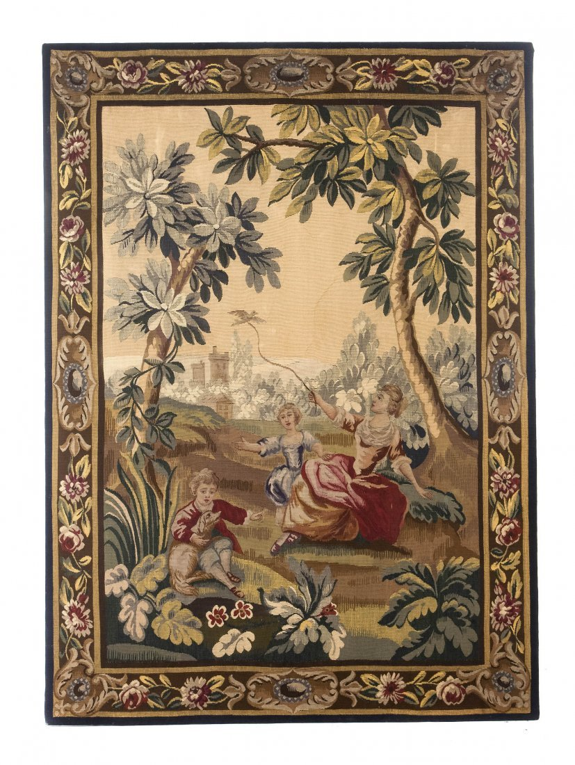 170: An Aubusson Wool Tapestry, Height 79 x width 57 1/
