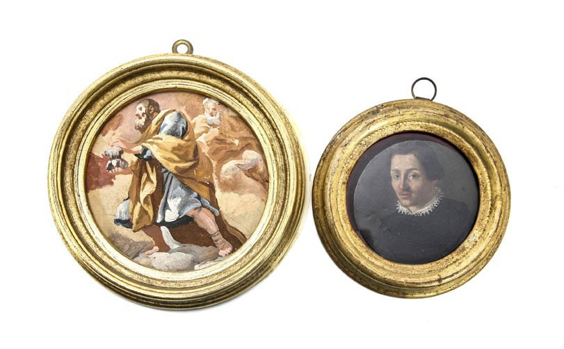 172: Two Continental Miniatures, Diameter of larger 3 1