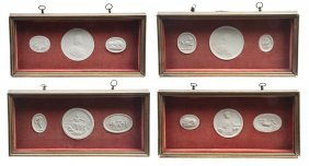 A Collection Of Twelve Plaster Intaglios, Height O