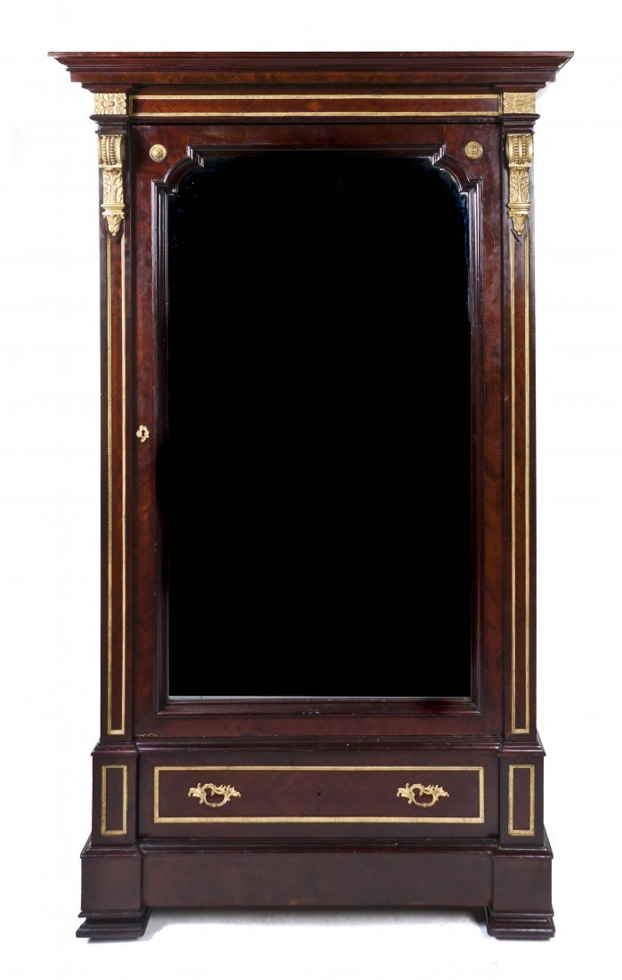 229: An Empire Style Mahogany and Gilt Bronze Mounted A