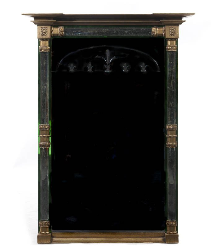 233: A Continental Neoclassical Giltwood Mirror, Height