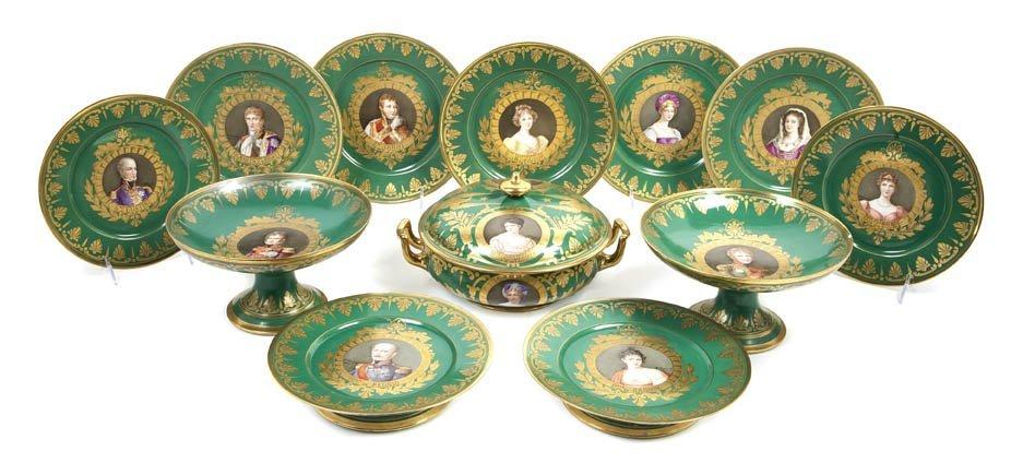 479: A Sevres Porcelain Partial Dinner Service, Diamete