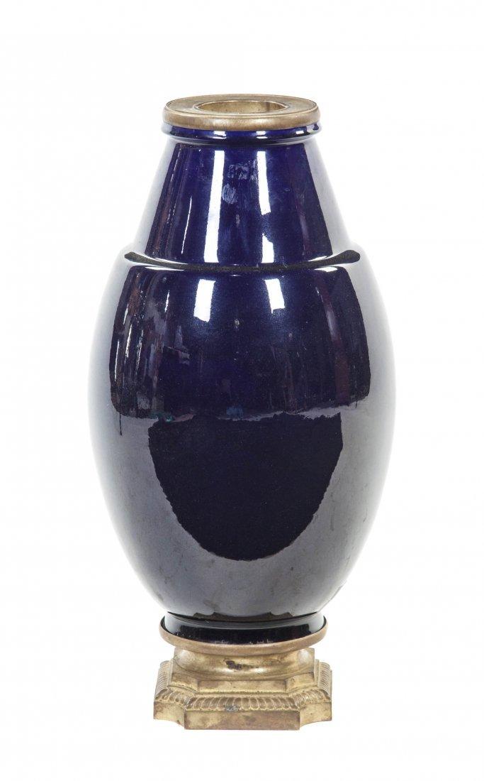 482: A Sevres Style Gilt Bronze Mounted Porcelain Vase,