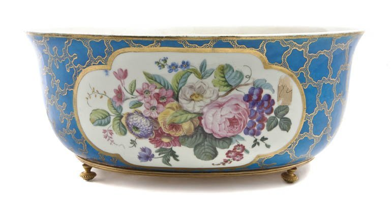 484: A Sevres Style Center Bowl, Width 12 inches.