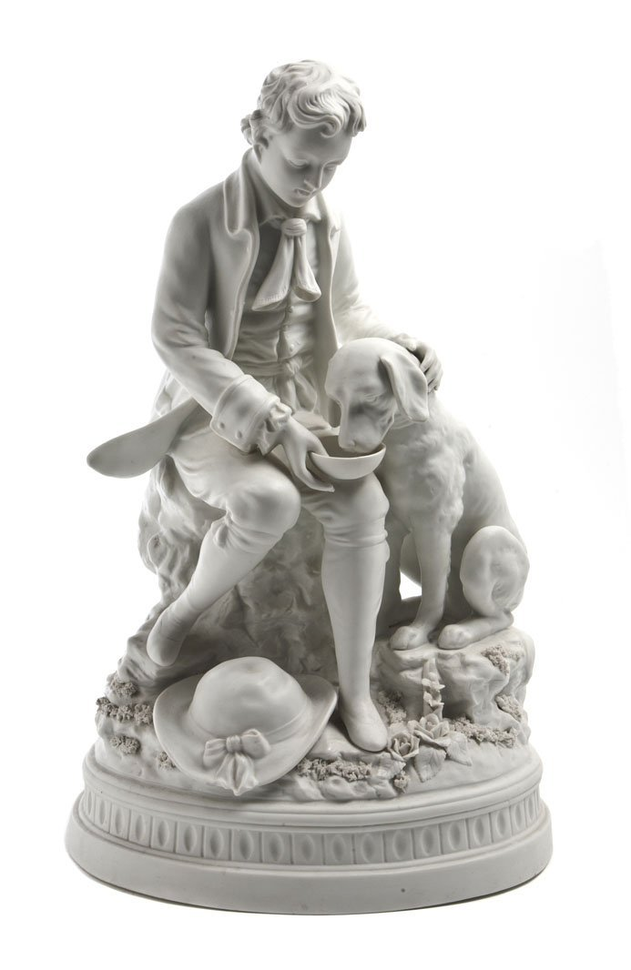 492: A Continental Bisque Porcelain Figural Group, Heig
