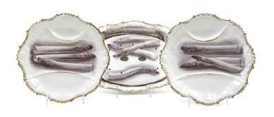 506: A Limoges Porcelain Asparagus Service, Width of pl