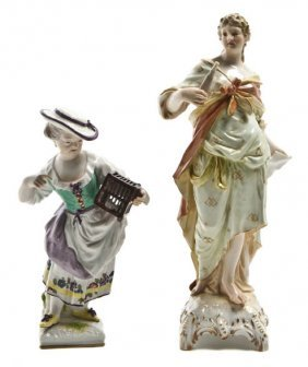 Two Berlin (K.P.M.) Porcelain Figures, Height Of F