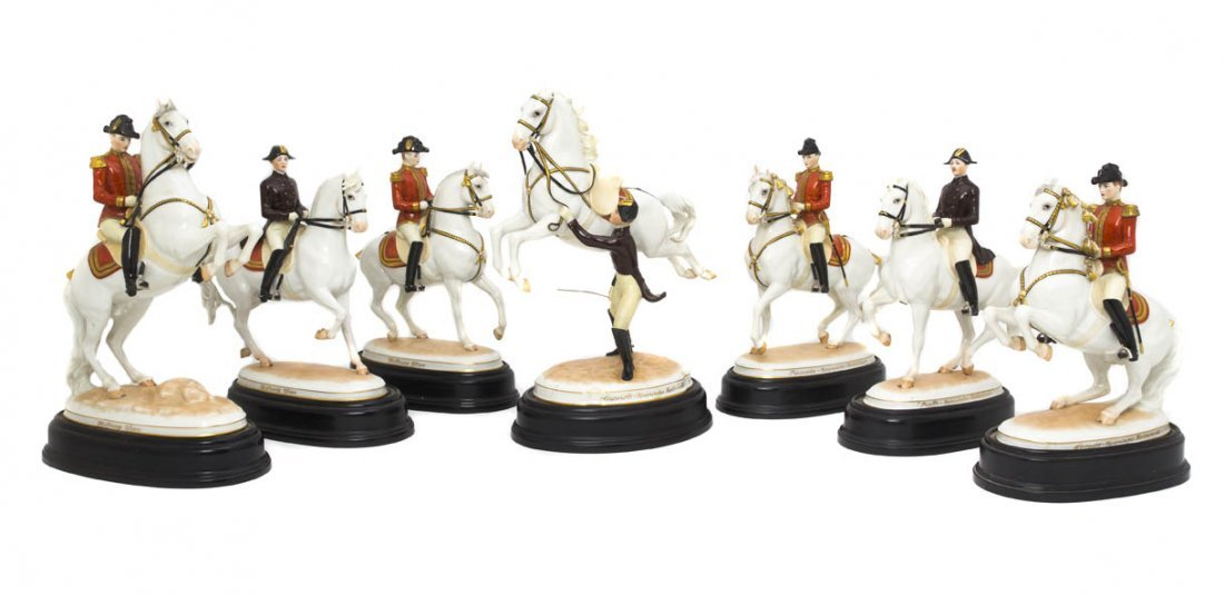 541A: A Set of Seven Austrian Porcelain Figural Groups,