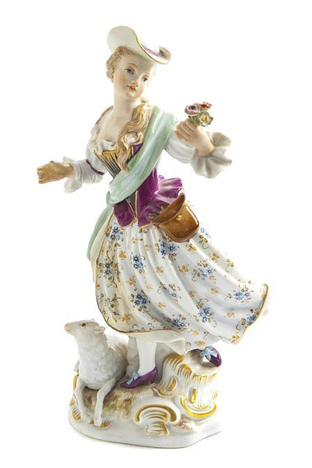 554: A Meissen Porcelain Figural Group, Height 9 3/4 in
