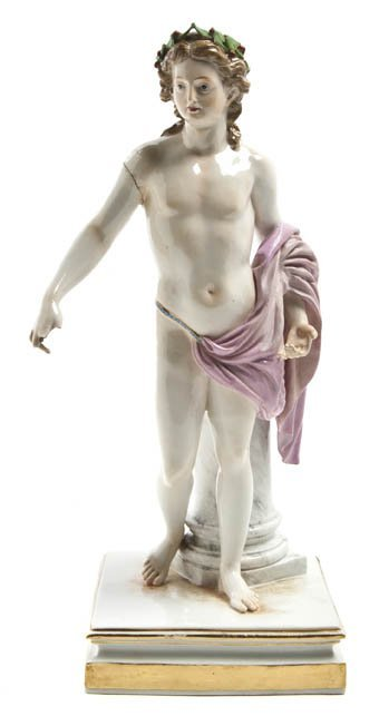 564: A Meissen Porcelain Figure, Height 10 1/4 inches.