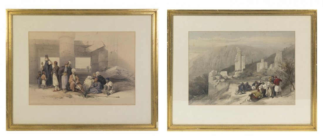824: David Roberts, (Scottish, 1796-1864), Entrance of