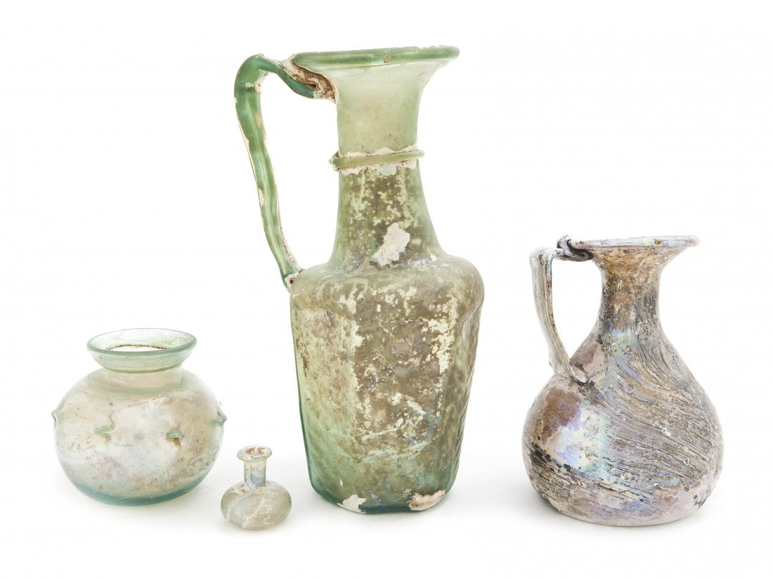 1035: A Byzantine Clear Glass Pitcher, Height of talles