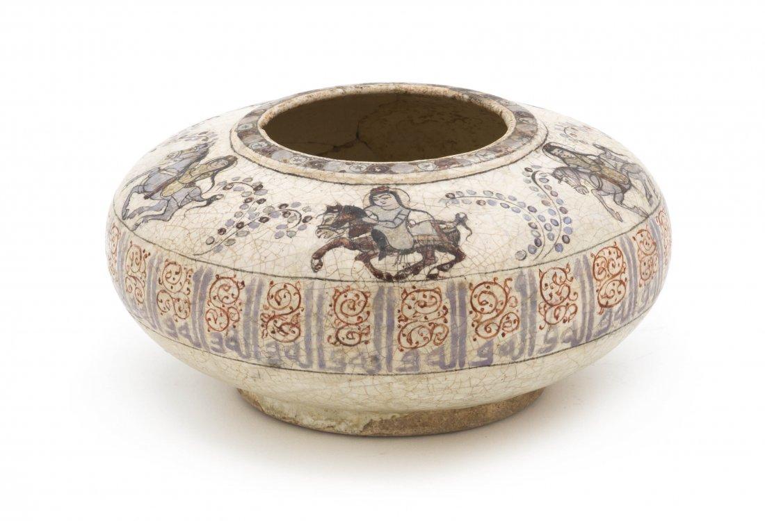 1068: A Minai Pottery Money Bowl, Diameter 7 inches.