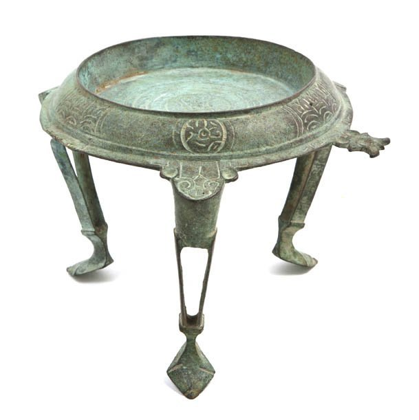 1075: A Middle Eastern Tripod Stand, Height 5 x diamete