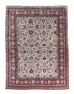A Keshan Wool Rug, 7 Feet 5/8 Inches X 10 Feet 1/