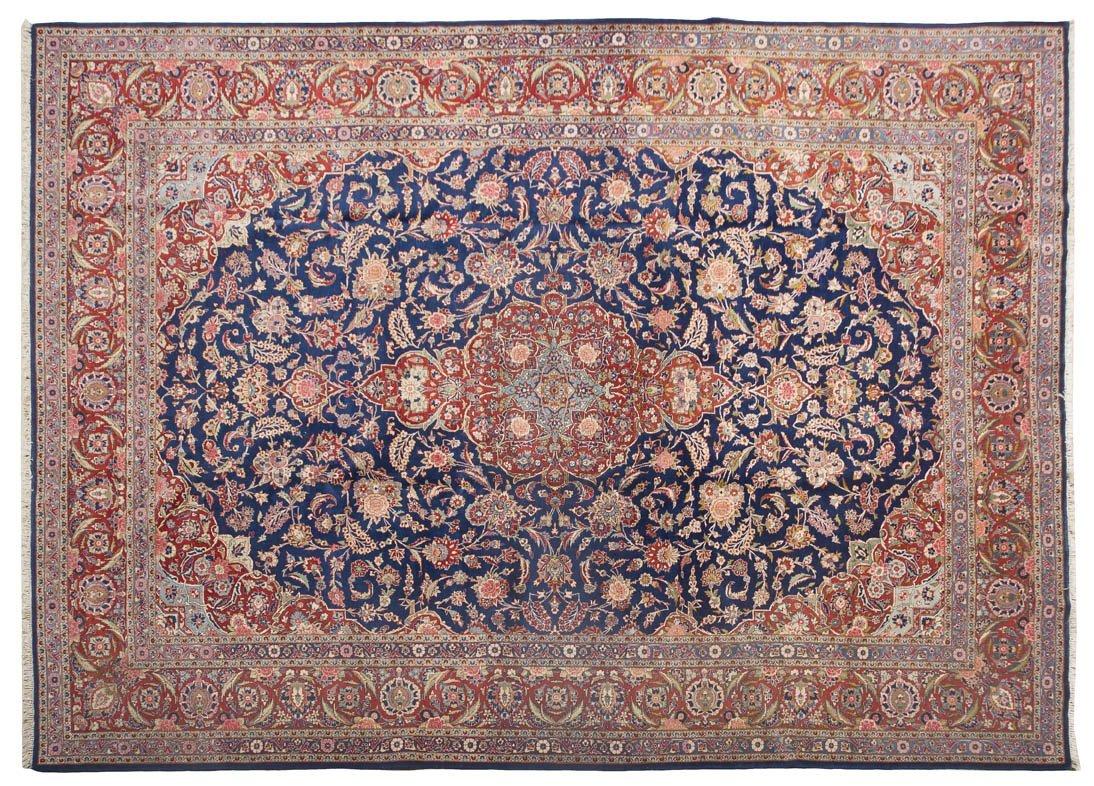 1130: A Keshan Wool Rug, 9 feet 1/4 inches x 12 feet 5/