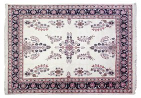 A Kashan Wool Rug, 10 Feet X 7 Feet 9 Inches.