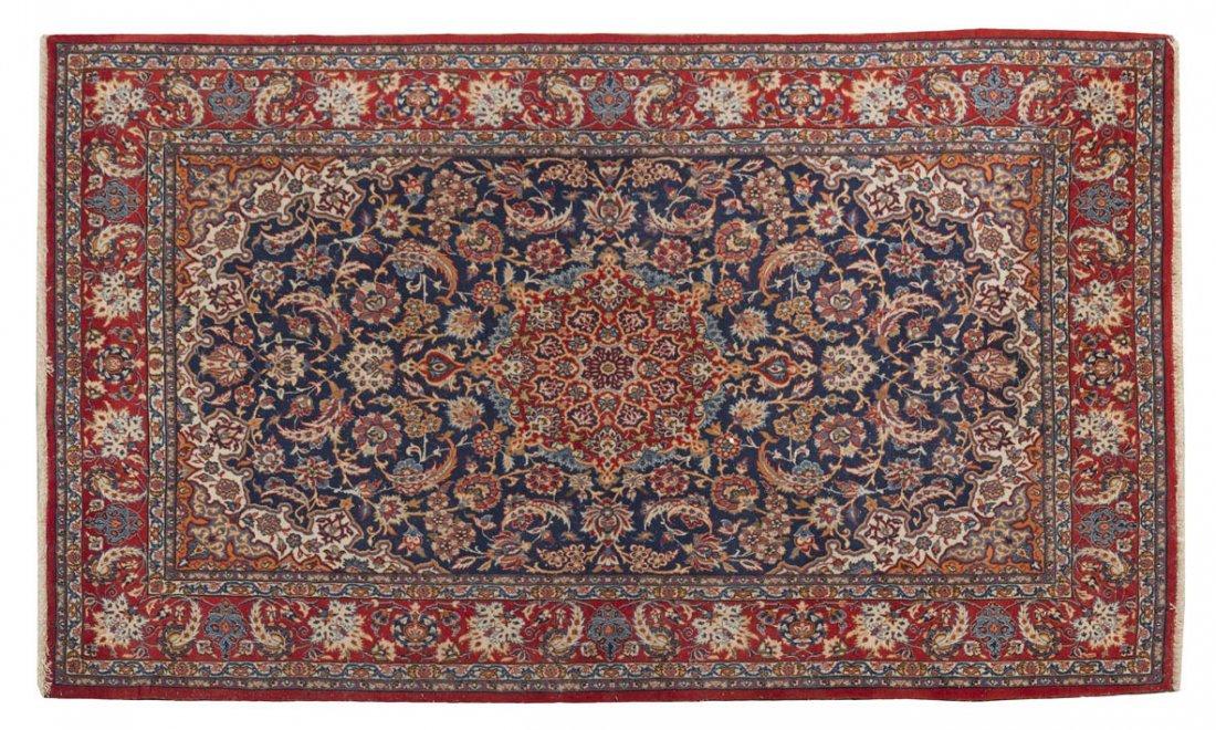 1132: An Isfahan Wool Rug, 5 feet 10 1/2 x 3 feet 6 inc