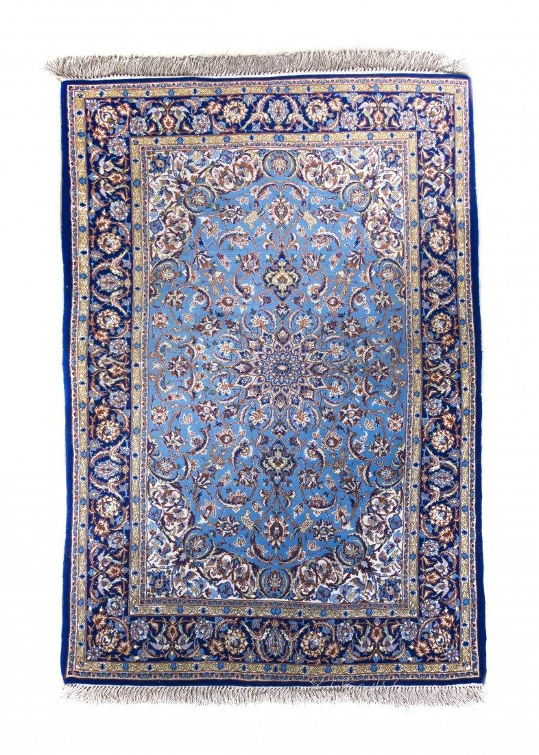 1135: An Isfahan Wool Rug, 5 feet 7 1/2 x 3 feet 4 1/2