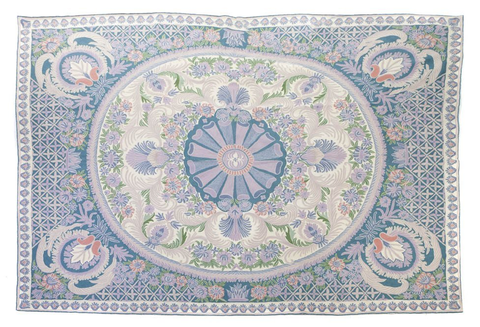 1138: An Indian Chain Stitch Rug, 9 feet 1 inch x 13 fe
