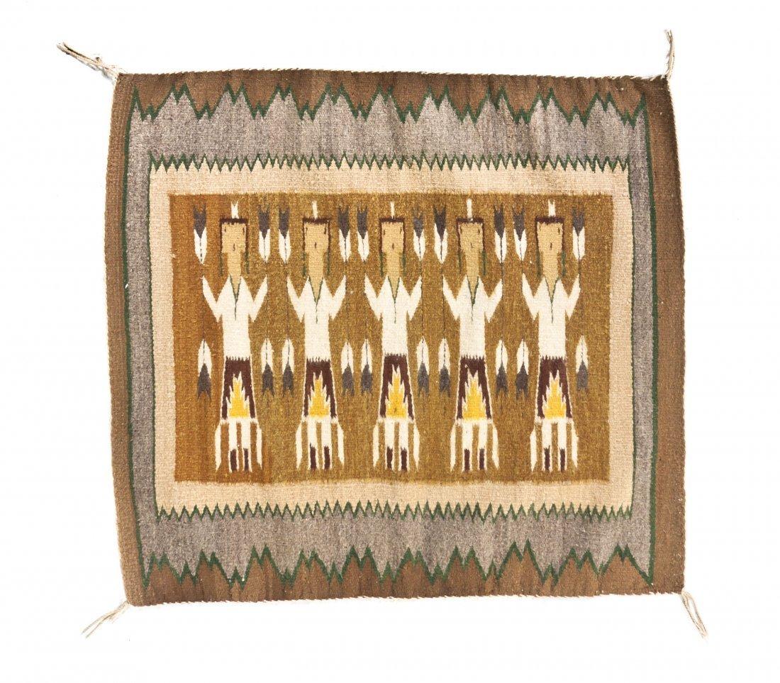 1139: A Navajo Pictorial Wool Rug, Height 28 1/2 x widt