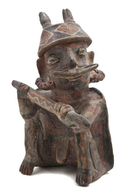 1146: A Nayarit Terracotta Figure, Height 12 inches.