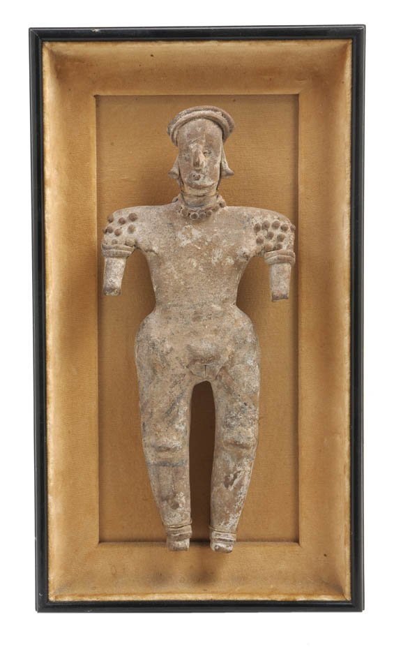 1149: A Pre-Columbian Terracotta Female Figure, Height