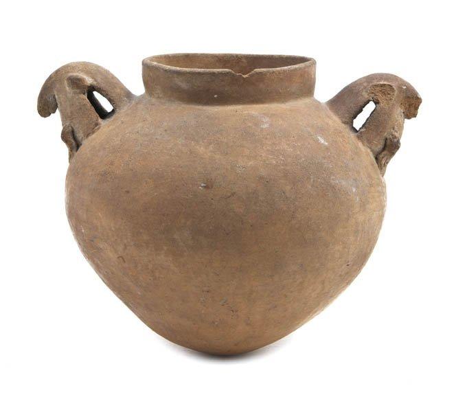 1150: A Pre-Columbian Terracotta Vessel, Width 6 1/4 in