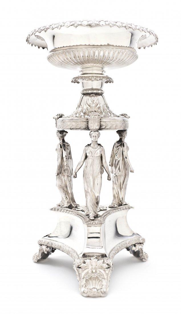 1174: An English Silver Centerpiece, Paul Storr, Height