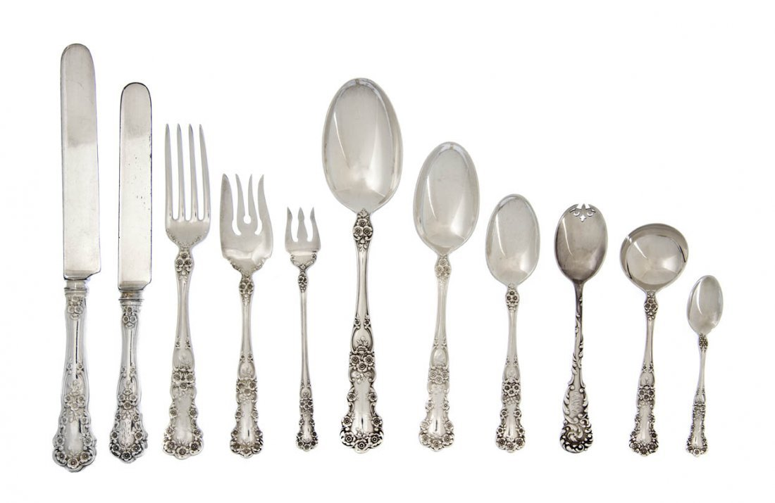 1312: An American Sterling Silver Partial Flatware Serv