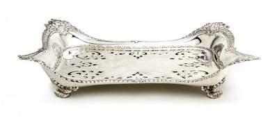 1342: An American Sterling Silver Asparagus Tray, Tiffa