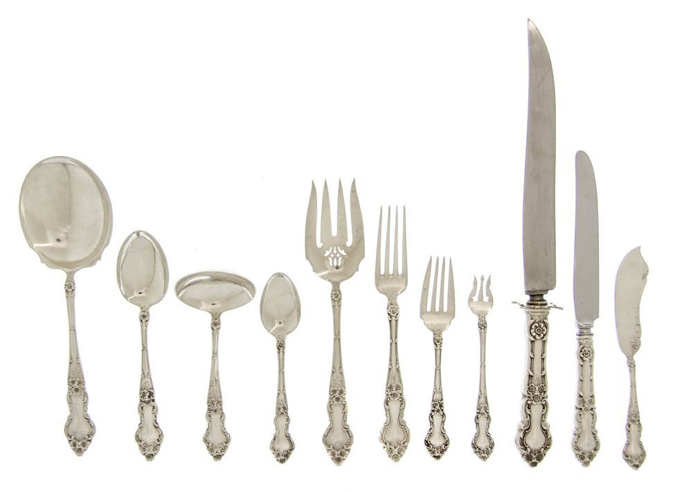 1361: An American Sterling Silver Flatware Service for