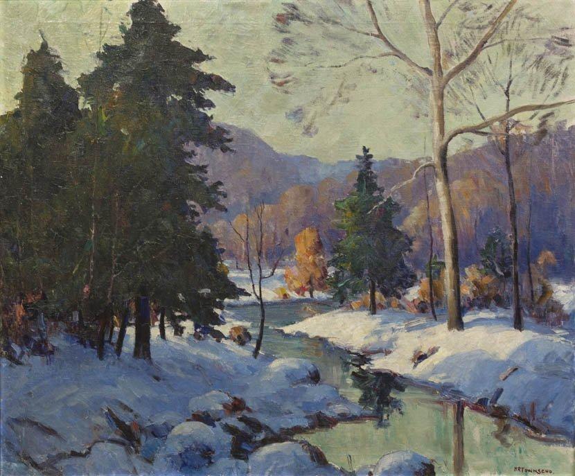 4: Harry Townsend, (American, 1885-1968), Winter Stream