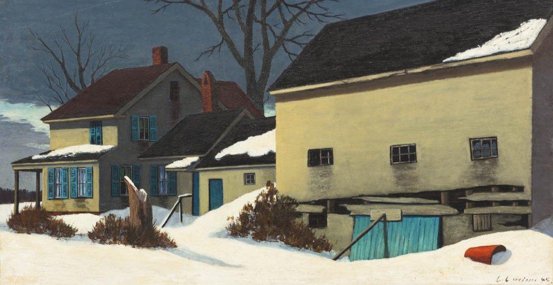 7: Luigi Lucioni, (American/Italian, 1900-1988), Winter
