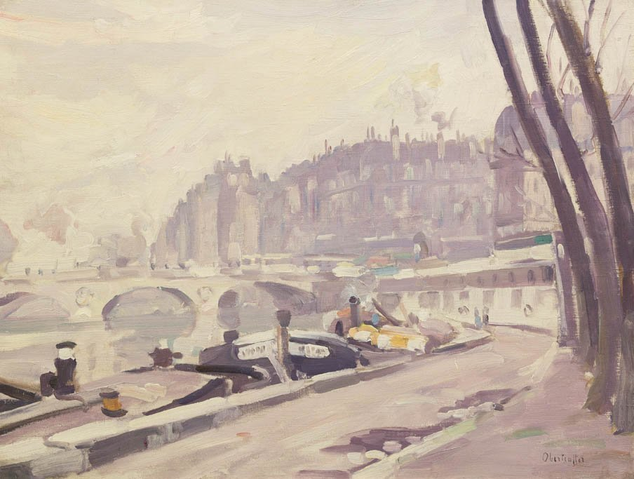 8: George Oberteuffer, (American, 1878-1940), Les Quais