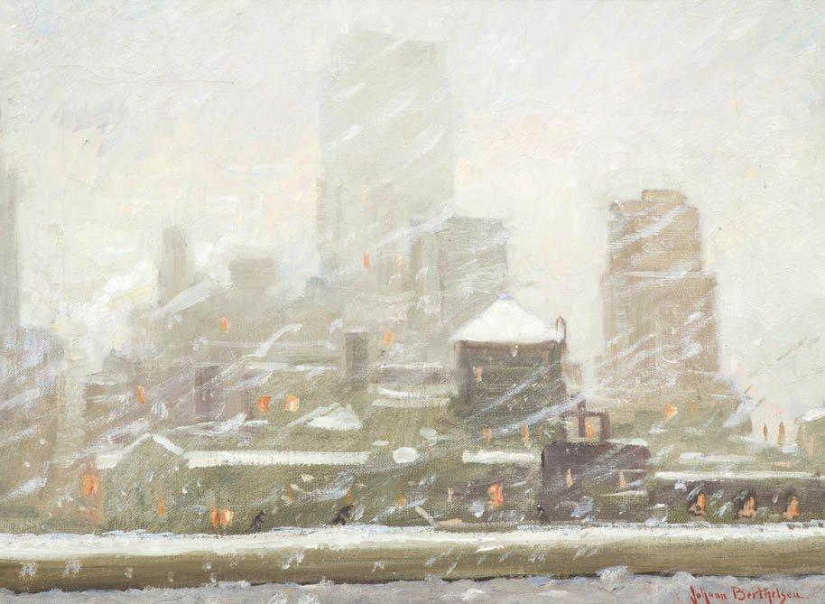 9: Johann Berthelsen, (American, 1883-1972), Snow Scene