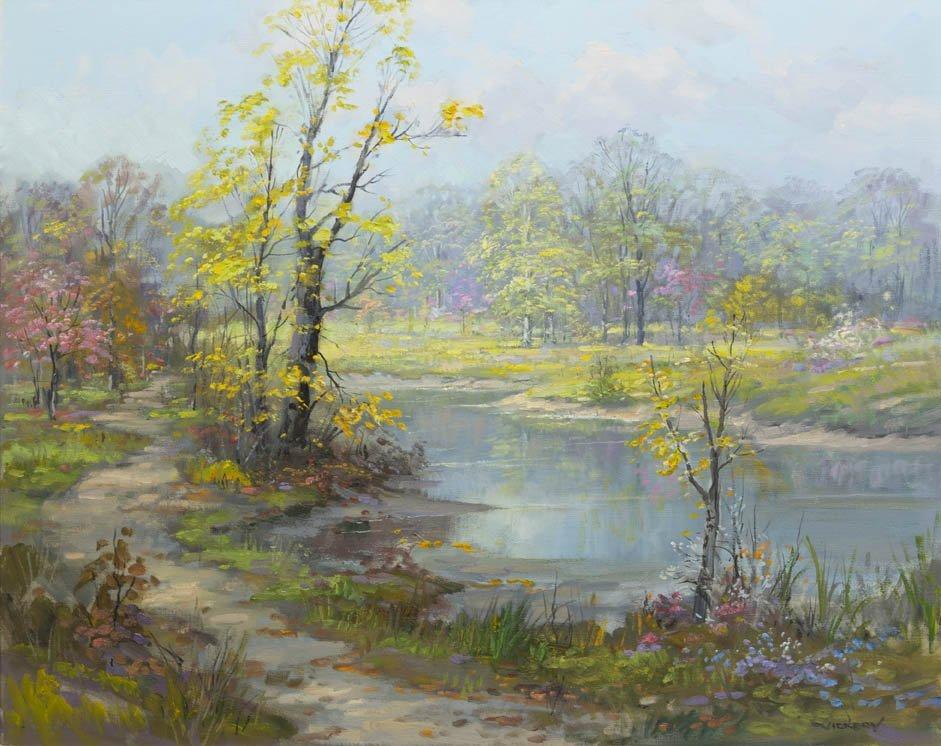 12: Charles Vickery, (American, 1913-1998), Spring Pond