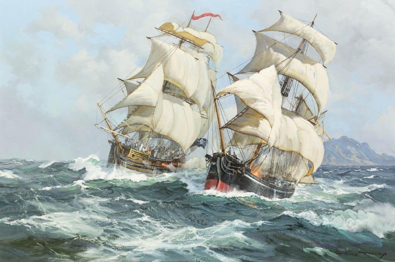 13: Charles Vickery, (American, 1913-1998), Pirates Att