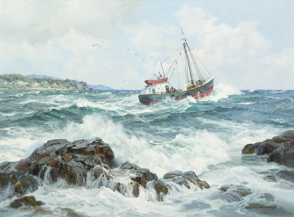 14: Charles Vickery, (American, 1913-1998), Maine Fishi
