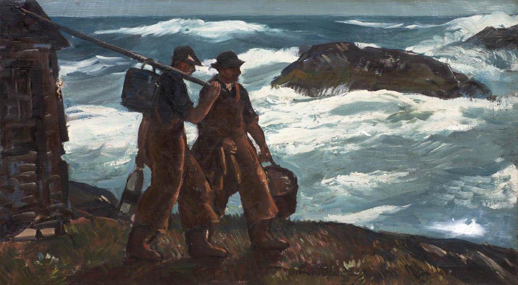 18: Gifford Beal, (American, 1879-1956), Northeaster