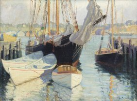 24: Ralph E. Power, (American, 20th century), Boats in